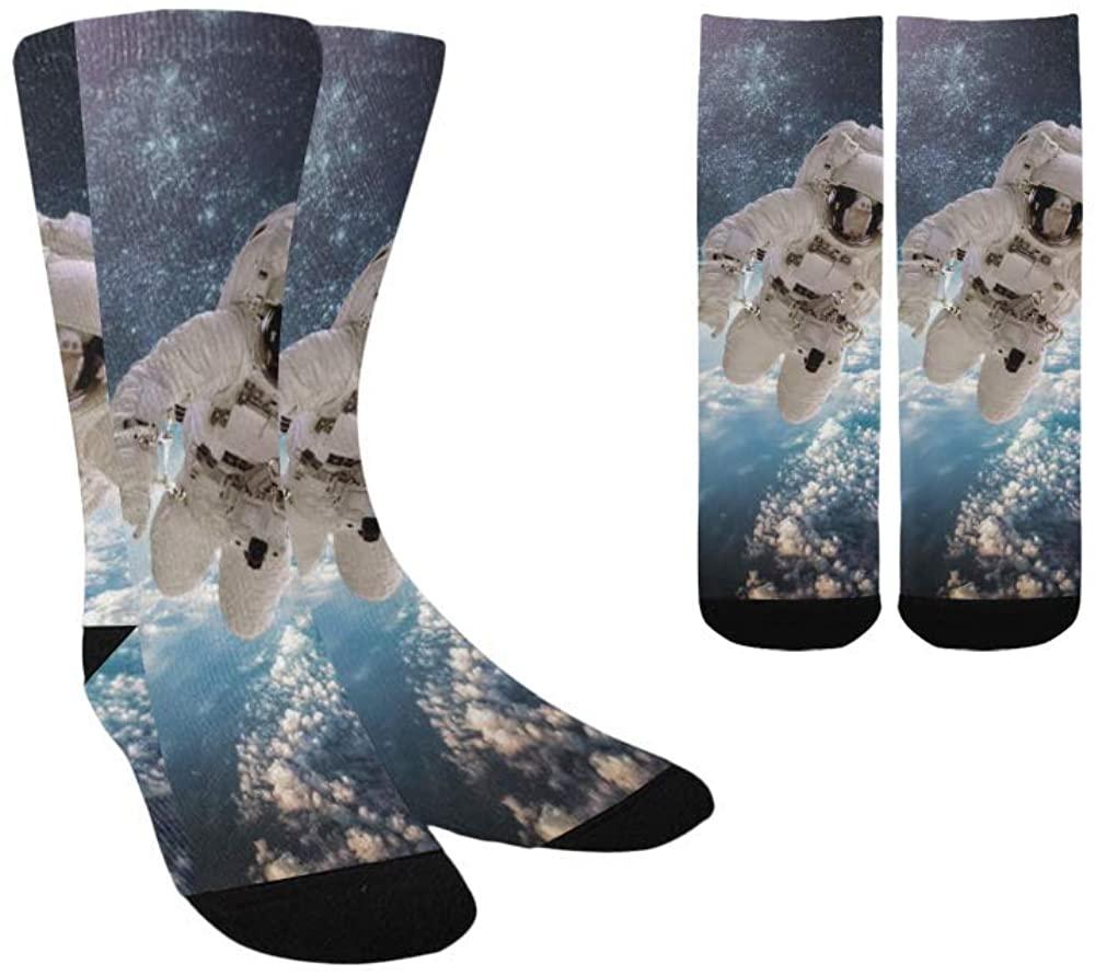 astronaut sci fi space technics spaceship planet Kid's Custom Socks Colorful Fashion Sport Socks For Boys Girls