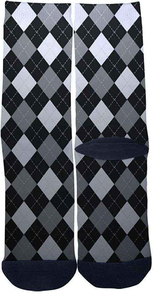 Black and White Socks Men's Women's Casual Socks Custom Creative Crew Socks