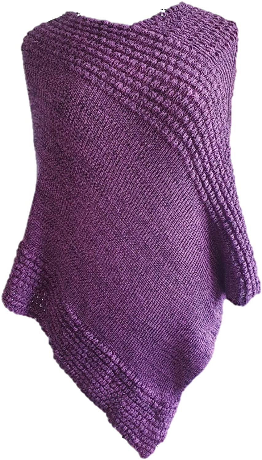 Mill House Knitwear Womens Poncho. 100% Cotton, Individually Handcrafted in Ireland Soft and Flattering.
