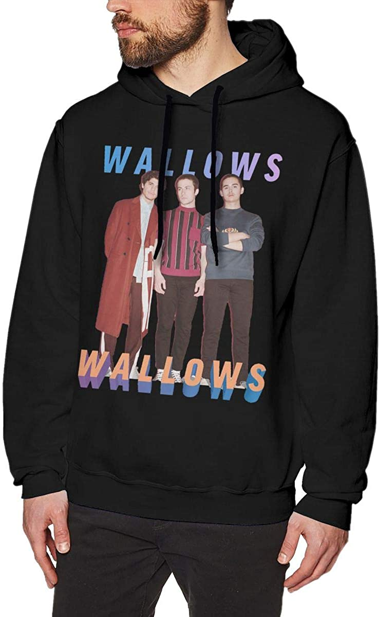 Men's Hoodie Sweatshirt W-Wallows Wall Ows Sweater Black