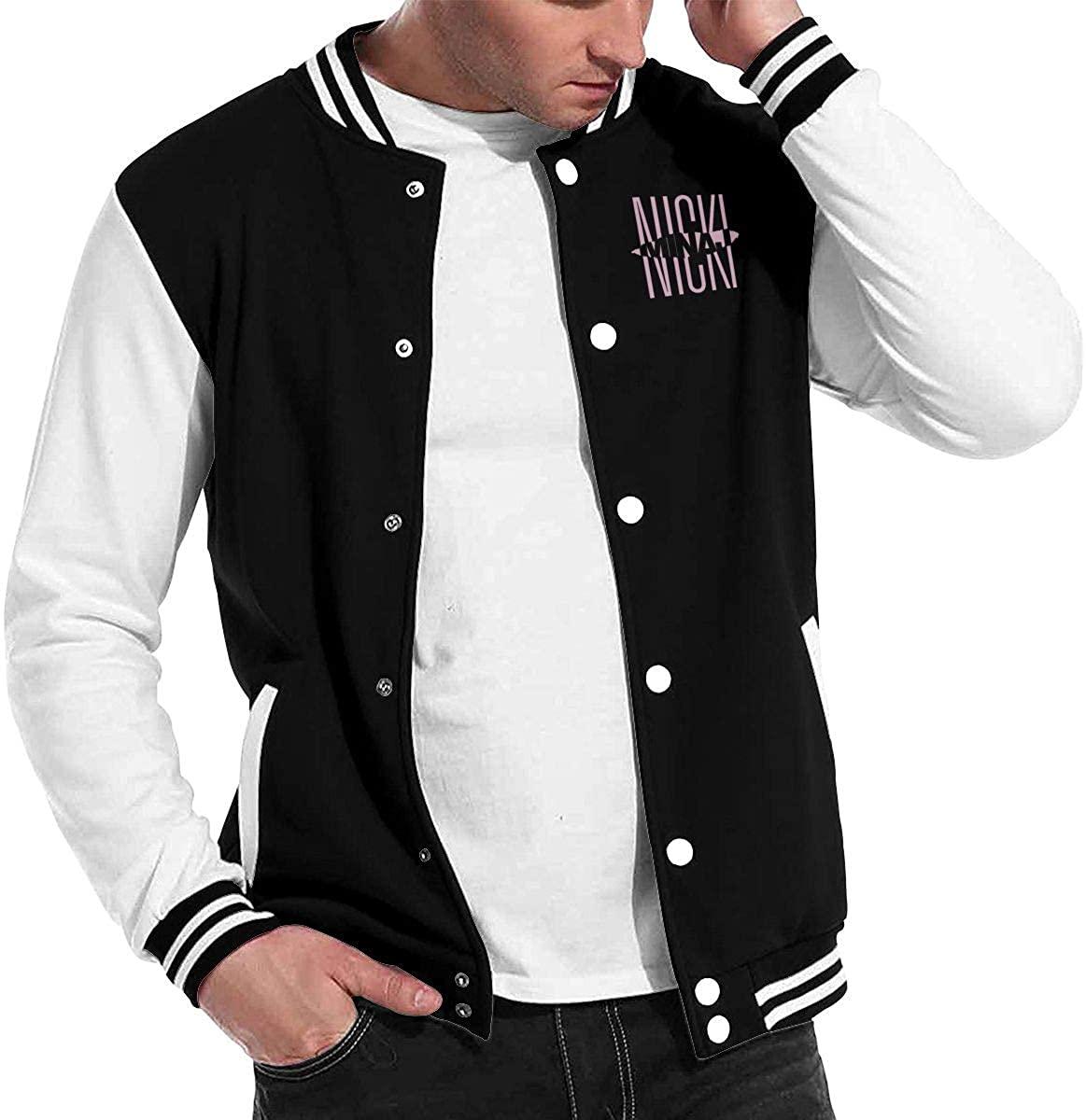SusanHuling Nicki Minaj Unisex Casual Baseball Jacket Coat Slim Fit Lightweight Jacket Varsity Jacket XL Black