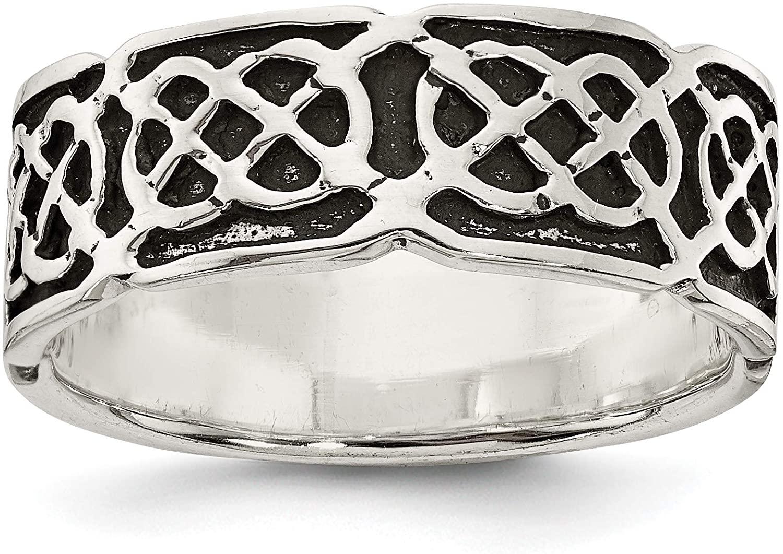 Sterling Silver Antiqued Celtic Ring
