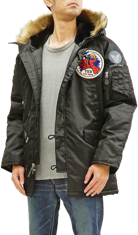 TEDMAN N-3B Parka Men's Winter Padded Coat Jacket with Patch TN3B-070 TN3-B-070