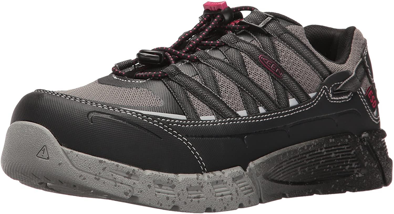 KEEN Utility 1017073 Women's Asheville at ESD Safety Shoes - Black/Gargoyle