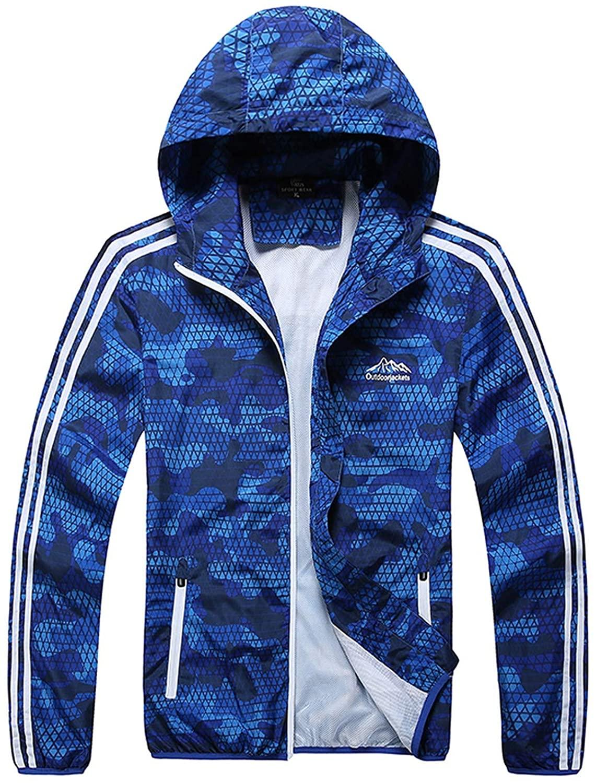 Beautymade Jacket Men Hooded Plus Size Sportswear Coat Outerwear Thin Windbreaker