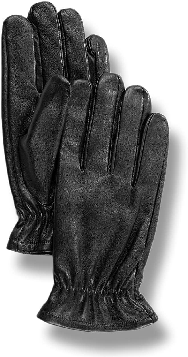 Saddlebred Mens Genuine Leather 3 Point Dress Gloves - Black