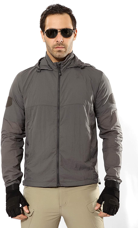 STARTAIKE Mens Lightweight Quick-Dry Waterproof Tactical Jacket UV Protect Coat