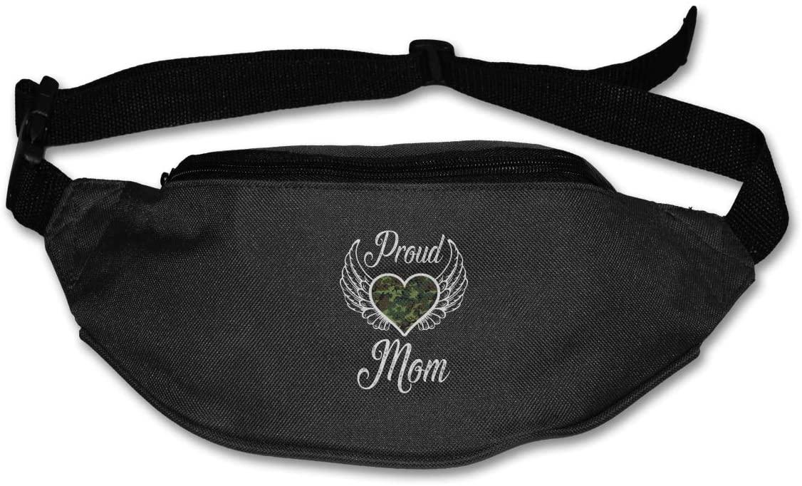 Proud Army Mom Unisex Outdoors Fanny Pack Bag Belt Bag Sport Waist Pack