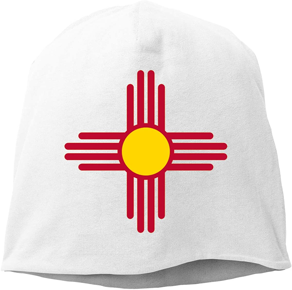 HaiRui YunDa New Mexico State Flag Unisex Beanie Hat Sleep Skull Cap Hedging Cap