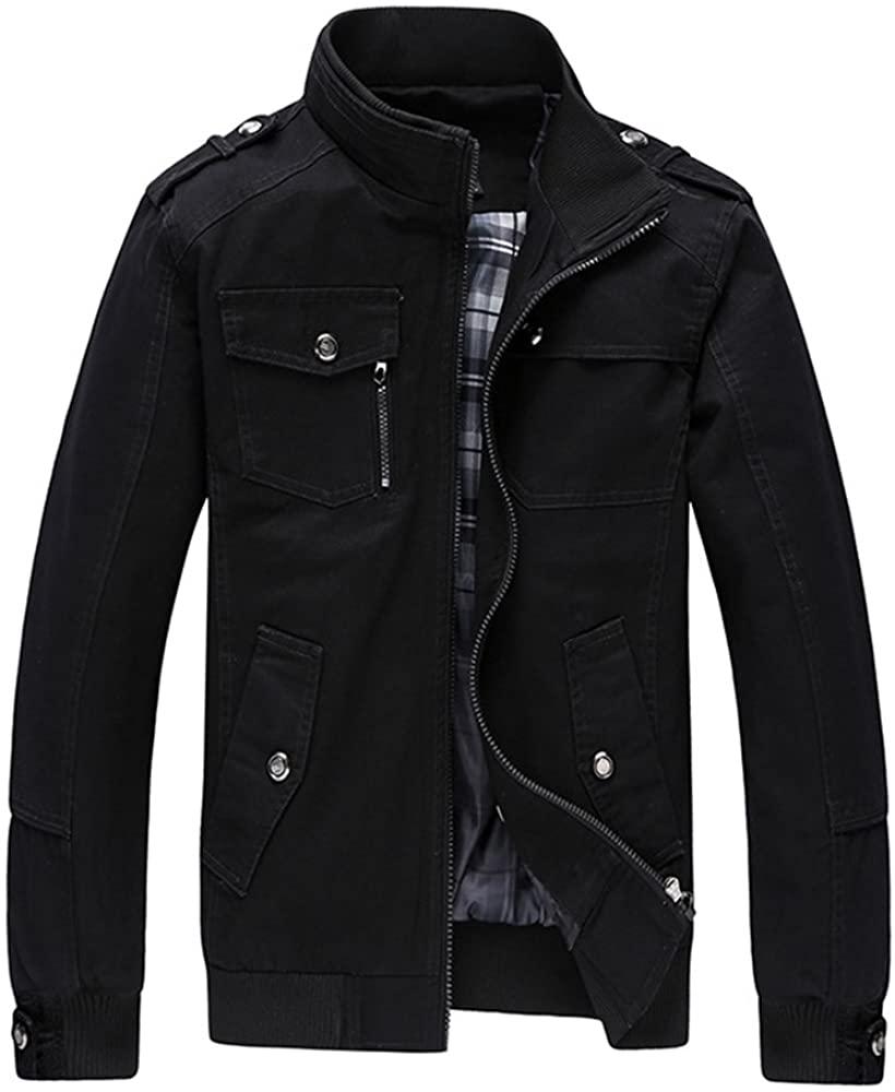 Woozied Men's Full Zip Casual Jacket