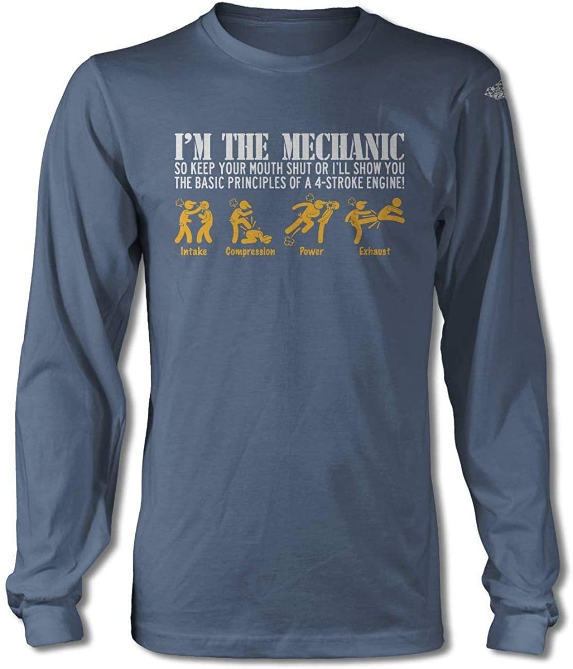 I'm The Mechanic - 4 Stroke Engine Long Sleeve T-Shirt