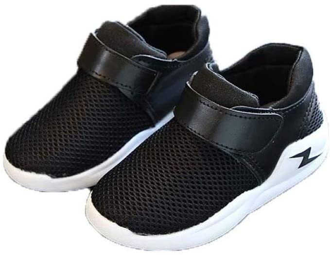 Kids Boys Girls Hook Loop Breathable Mesh Shoes Running Sneakers Sports Non Slip First Walker Shoes