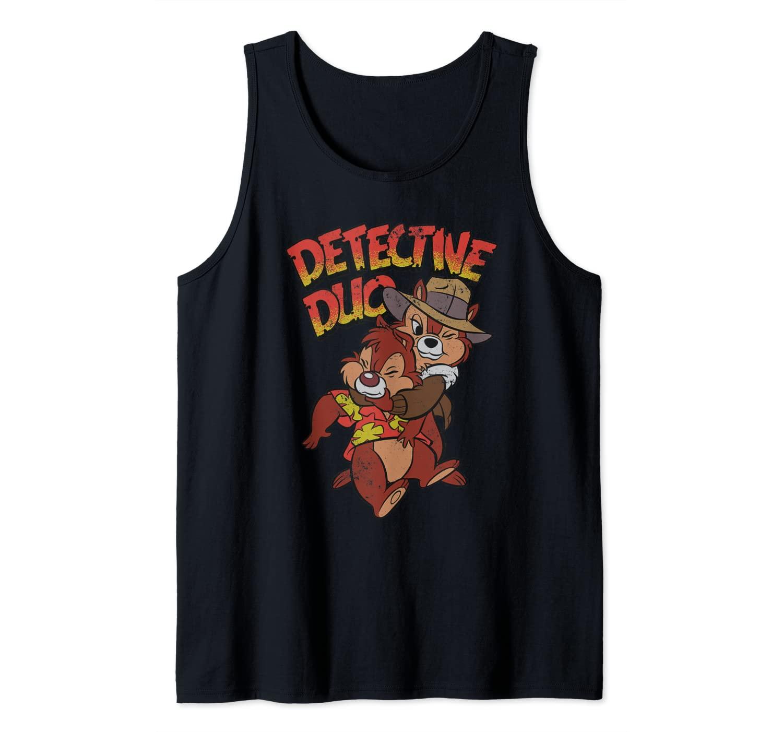 Disney Retro Chip n' Dale Rescue Rangers Detective Duo Tank Top