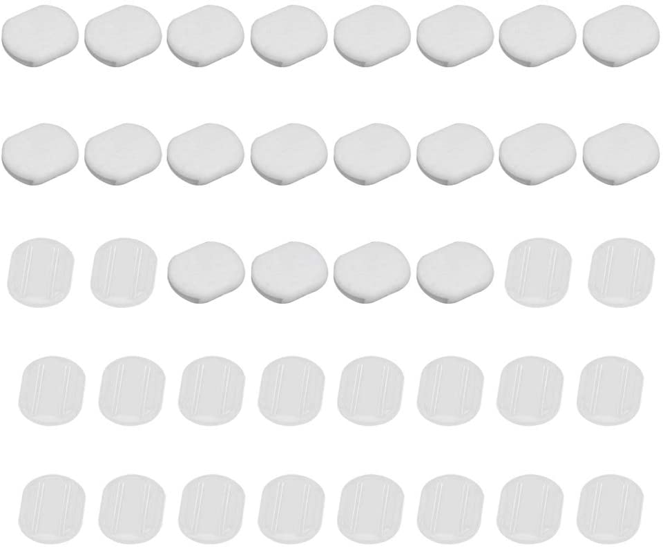 Artibetter 40pcs Earring Pads Silicone Comfort Earring Cushions for Clip on Earrings, Clear (Small Size)