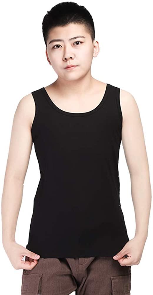 BaronHong Plus Size Chest Binder Cotton Vest Tank Tops for Tomboy Lesbian
