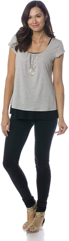 Majamas Orchard Top - Soft Short Sleeve Maternity/Nursing/Breastfeeding Shirt