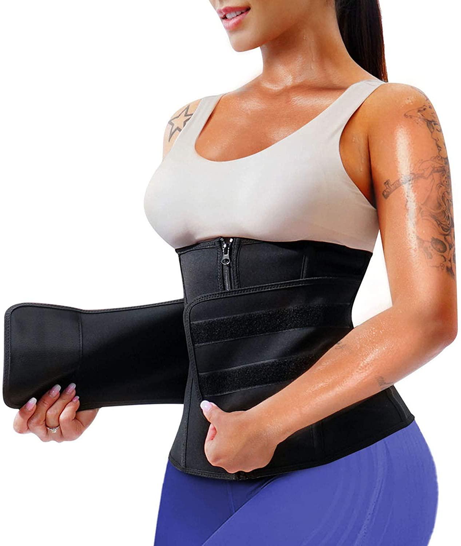SCARBORO Neoprene Waist Trainer Corset for Women Weight Loss Sweat Waist Trimmer Cincher Belt Workouts Girdle Slim Belly Band