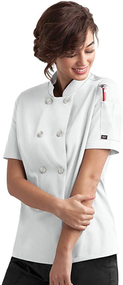 ChefUniforms.com Women's Classic Chef Coat (XS-5X, 2 Colors)