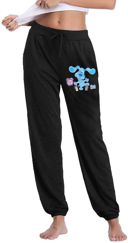 NOT Blue's Clues Classic Blues Group Woman Slacks Sweatpants Comfort Sport Pants with Pockets