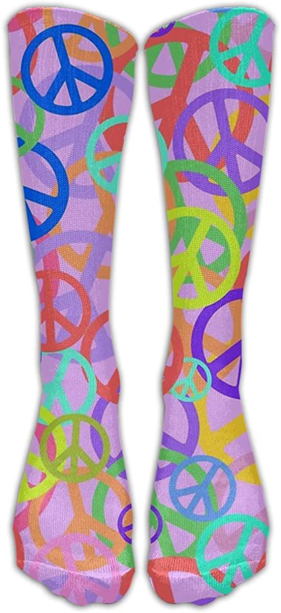 Peace Socks Long Sock Unisex Cotton Stocking Fashion 3D Crew Socks High Athletic Ankle Socks One Size