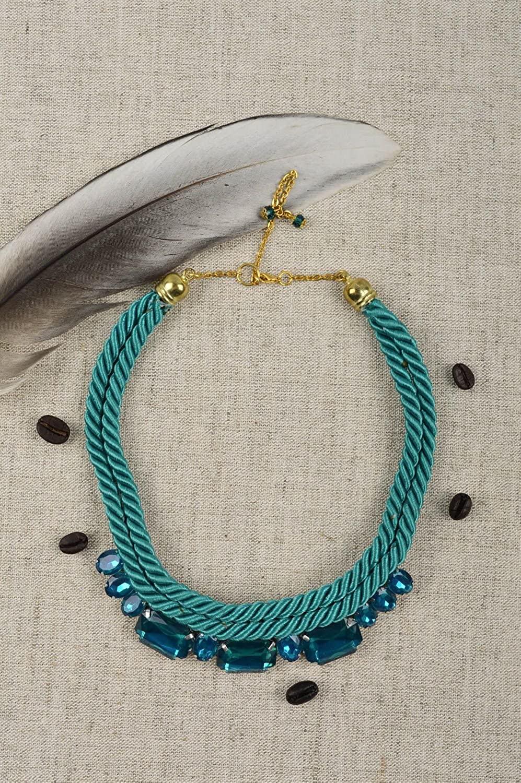Handmade Thread Necklace Yarn Necklace Handmade Accessories Stylish Jewelry