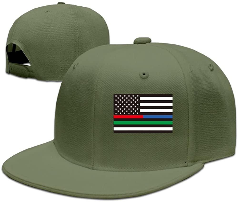 Thin Line FlagBaseball Caps Grid Hat Adjustable Trucker Cap Bandanas
