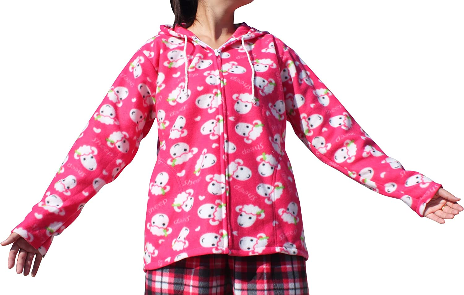 Full Funk Light Thin Polar Fleece Winter Inside Jacket Hoody Pijama Top