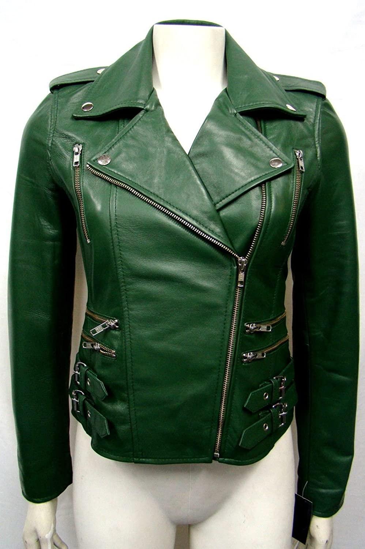 Koza Leathers Women's Lambskin Leather Jacket KW038
