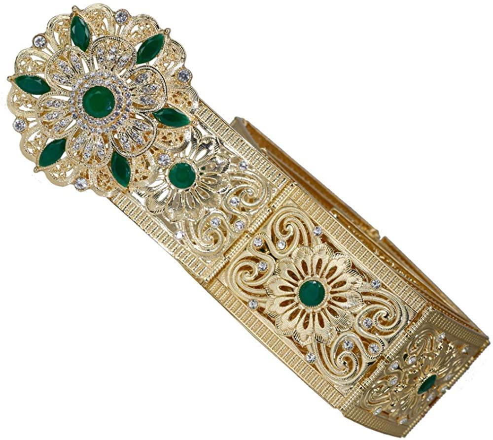 Fashion Hollow Flower Buckle Waist Chain Belt for Bridal Accessories