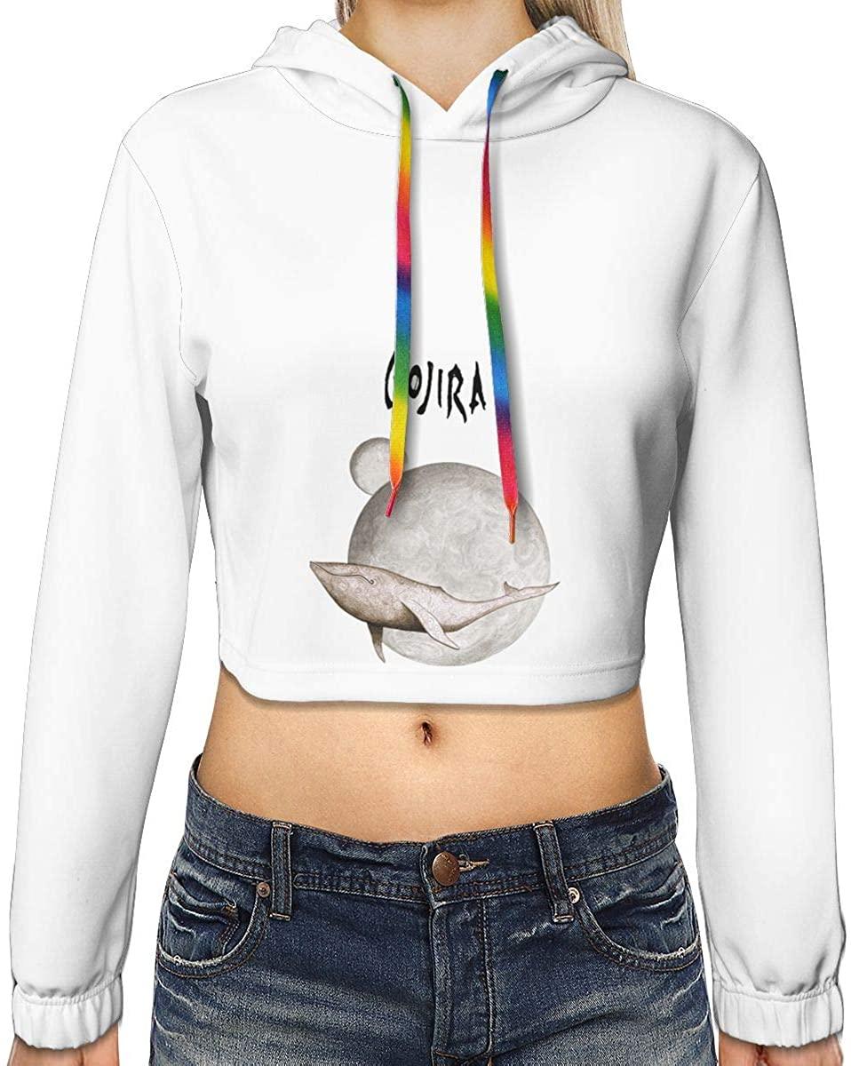 Women's Gojira from Mars to Sirius New Plus Velvet Fashion Hoodie Navel Exposed Hooded Sweater
