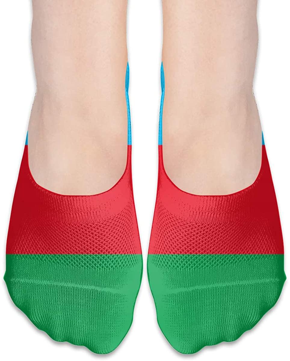 National Flag Of Azerbaijan No Show Socks Womens Low Cut Liner Short Ankle Sock