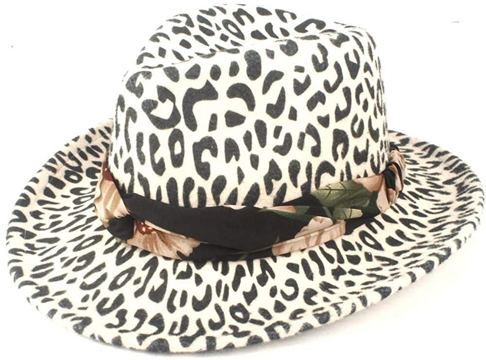 MADONG 2019 Autumn Winter Sun Hat Ladies Men Fedora Hat Wool Polyester Wide-Brimmed Felt Floppy Cloche Hat Ribbon