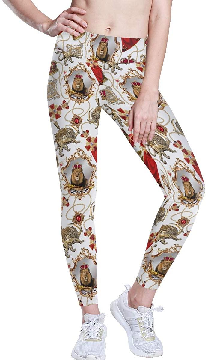 CHINEIN Women's High Waisted Pattern Leggings Full-Length Yoga Pants Merry Christmas Ho-Ho Holly Jolly