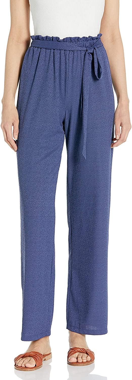 A. Byer Womens Juniors Wide Leg Elastic Waist Comfortable Pants