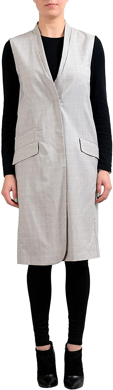 Maison Margiela 4 Wool Silk Multi-Color Checkered Women's Vest Coat US M IT 42
