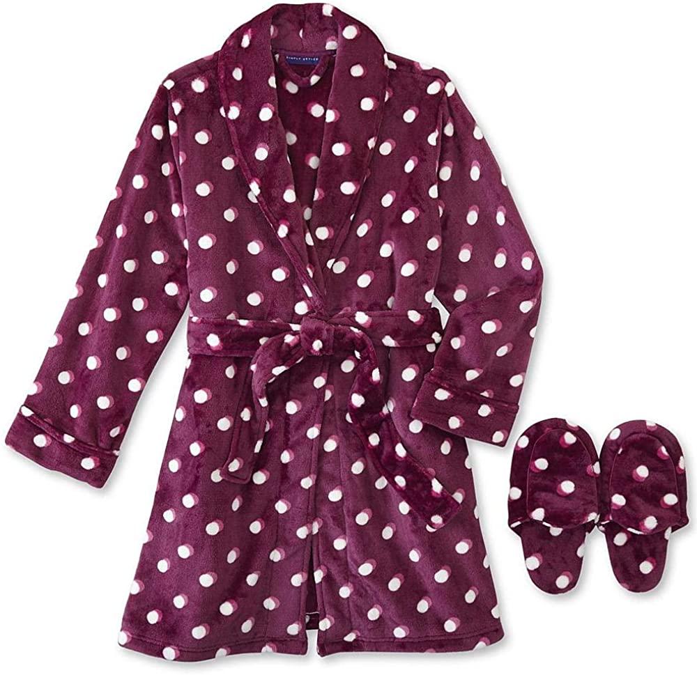 Simply Styled Women's Fleece Robe Large