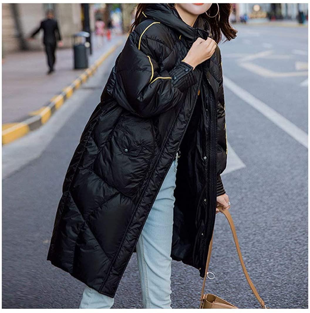 HiiWorld Autumn Winter Women Down Coat Fashion Hooded Warm Down Jacket Female Plus Size Warm Long Coat Women