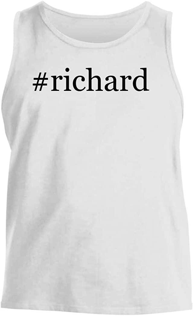 #richard - Men's Hashtag Comfortable Tank Top, White, XX-Large