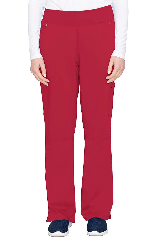 healing hands Purple Label Yoga Women's Tori 9133 5 Pocket Knit Waist Pant Red-X-Small Petite