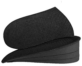Peselina Black Height Increase Invisible Adjustable Insoles for Women and Men