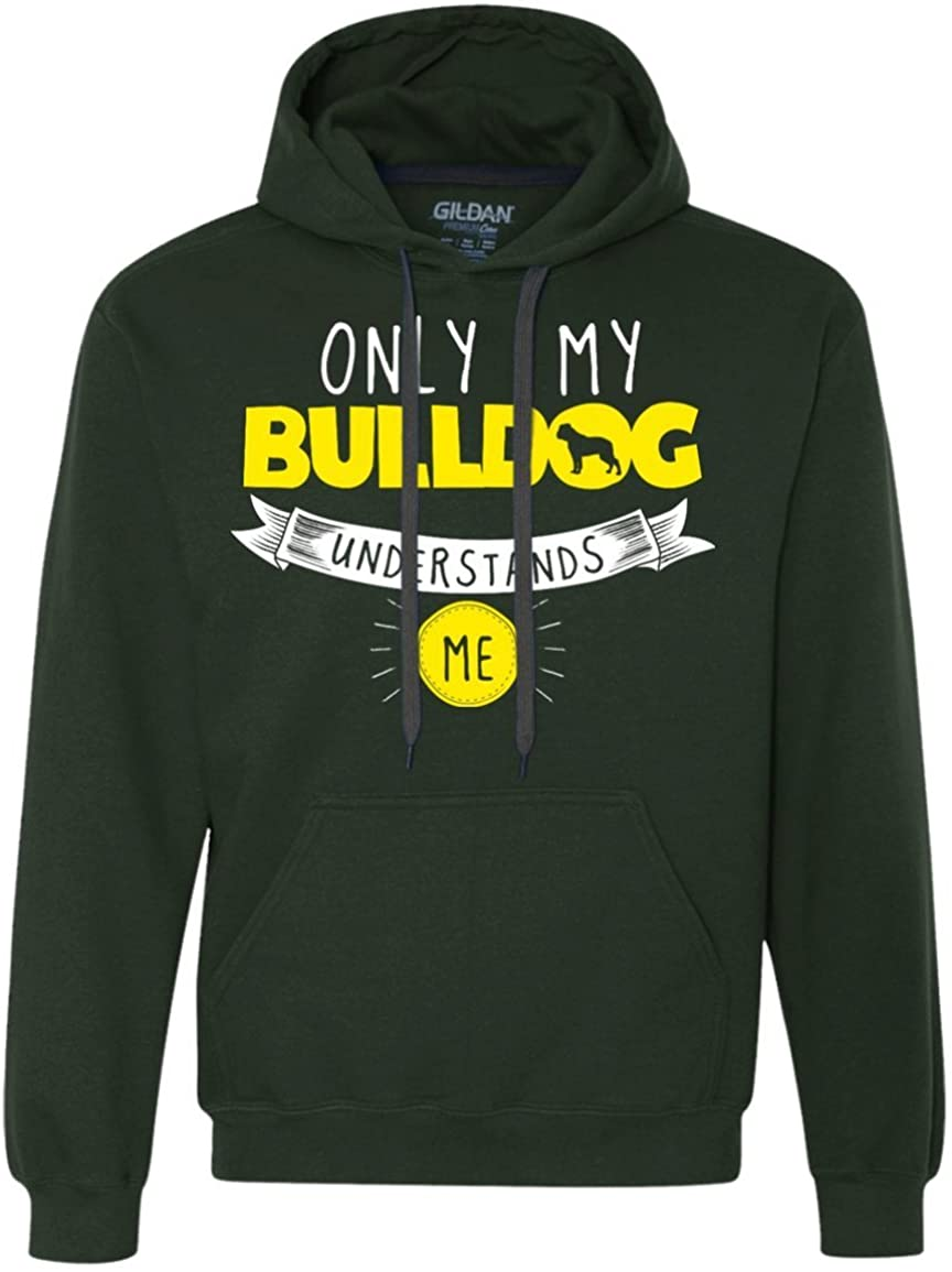 DrWigglebutts Bulldog - Only My Bulldog Understands Me - Heavyweight Pullover Fleece Sweatshirt
