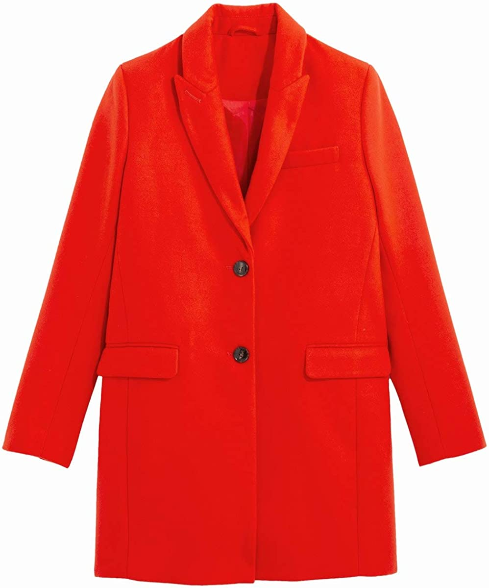 La Redoute Collection Womens Single-Breasted Coat with Buttons