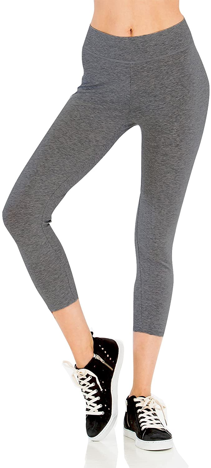 PINMUSE Women's Cotton Spandex Opaque Quality Jersey Leggings S to 3XL