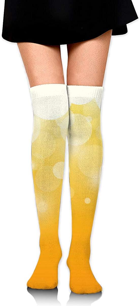 Dress Socks Summer Ice Beer Drink Long Knee Hose Hold-Up Stockings