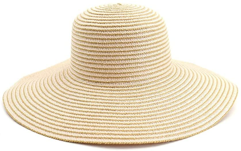 HYJ Straw hat Female Summer Beach Beach Big hat Sunscreen Sunshade Travel Wild Foldable Big Edge Cool hat (Color : Pink, Size : One Size)