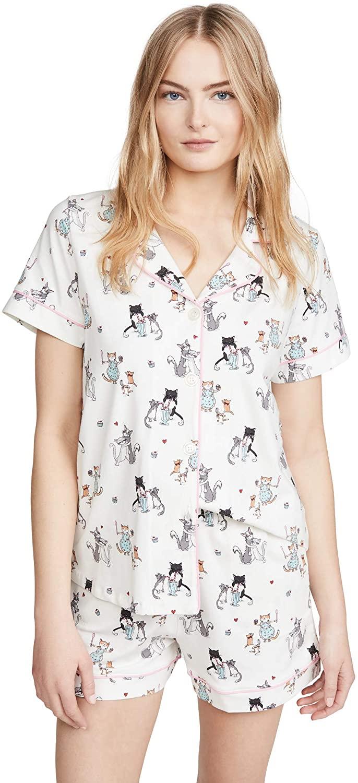 BedHead Pajamas Women's Baked with Love Short Sleeve Classic Shorty PJ Set