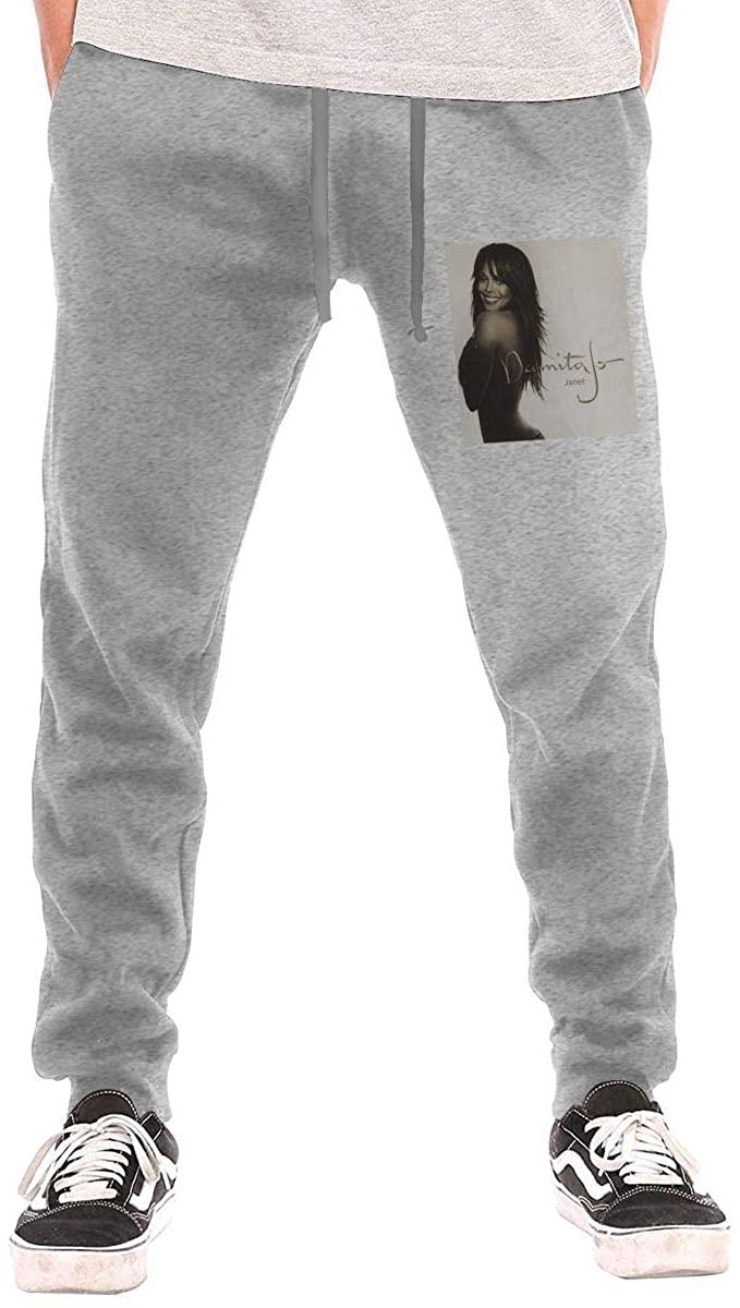 Janet Jackson Damita Jo Pants Womens Jogger Drawstring Waist Long Sweatpants with Pockets Trousers