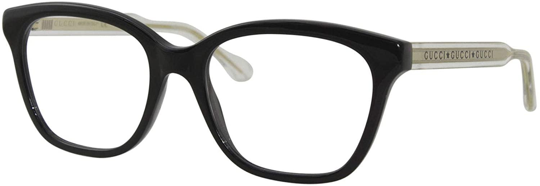 Gucci GG 0566O 002 Havana Plastic Cat-Eye Eyeglasses 52mm