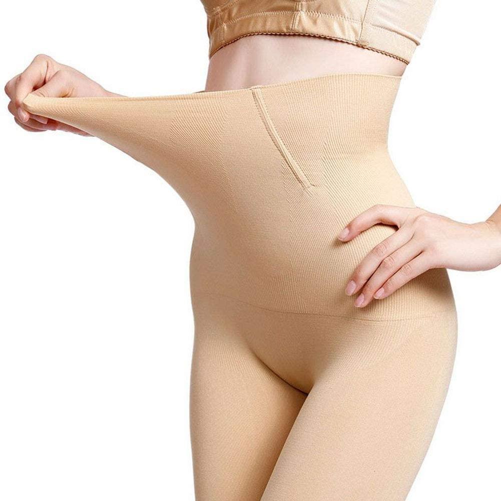 DFXIU Womens Honeycomb Design Shapewear Tummy Control Tuck High-Waist Thigh Slimmer (Nude, M/L/US 6-12)
