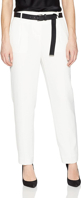 Calvin Klein Womens Straight Pant W/Belt